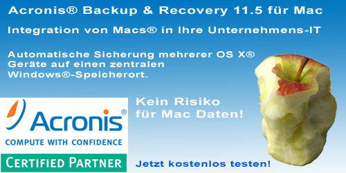Acronis® Backup & Recovery 11.5 für Mac